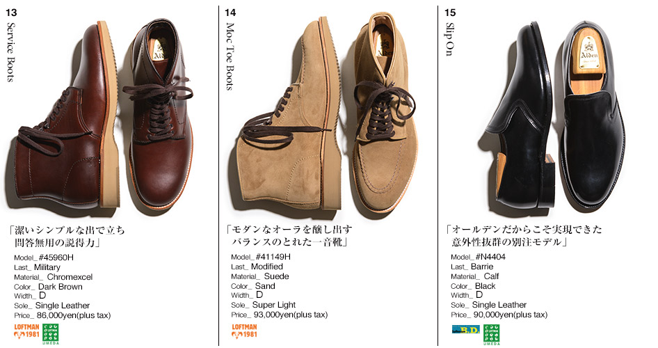 13.Service Boots/14.Moc Toe Boots/15.Slip On