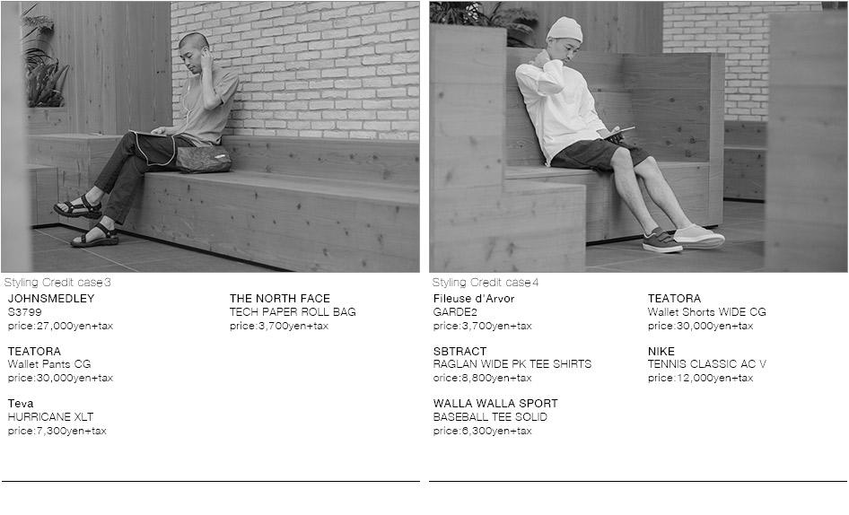 JOHNSMEDLEY-S3799/TEATORA-Wallet Pants CG/Teva-HURRICANE XLT /THE NORTH FACE-TECH PAPER ROLL BAG/Fileuse d'Arvor-GARDE2/SBTRACT-RAGLAN WIDE PK TEE SHIRTS/WALLA WALLA SPORT-BASEBALL TEE SOLID/TEATORA-Wallet Shorts WIDE CG/NIKE-TENNIS CLASSIC AC V